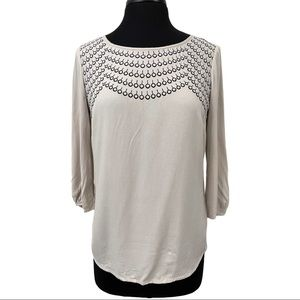 Boden Embroidered Chest Blouse Sz 4